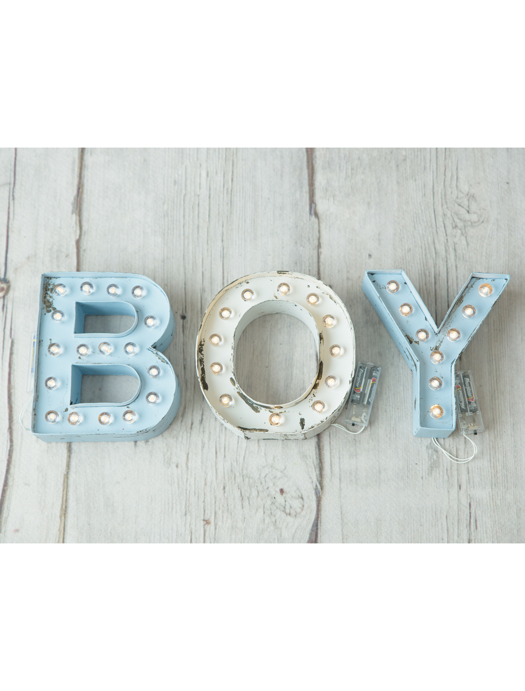 Letras luminosas BABY BOY - TWINS by BCN LETTERS