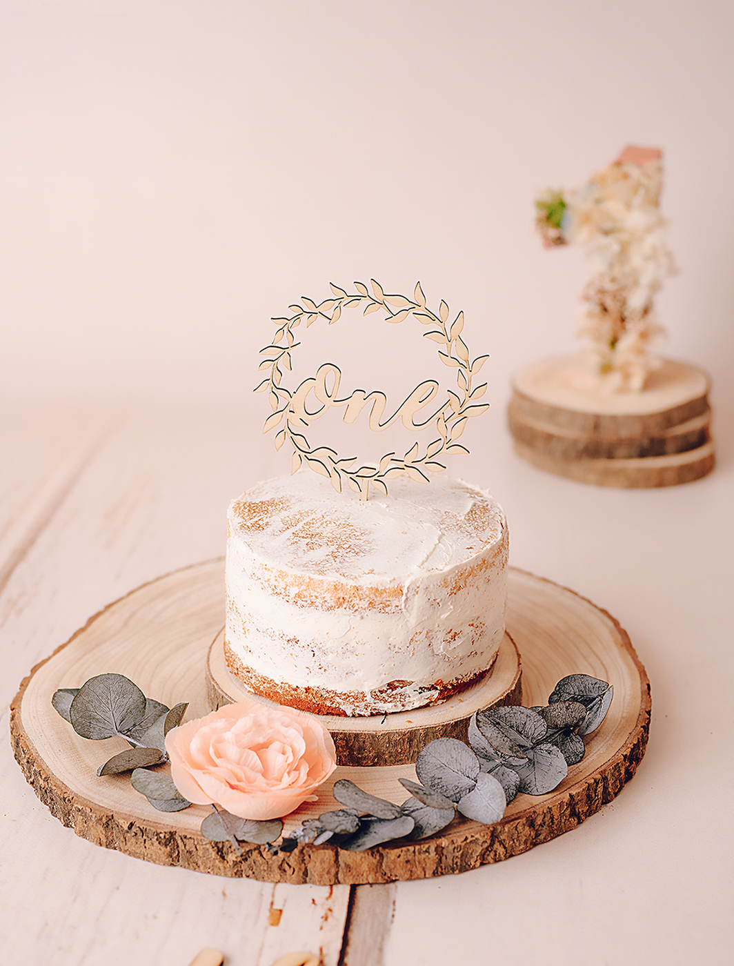 Caketopper One de Madera Cakesmash - TWINS by BCN LETTERS